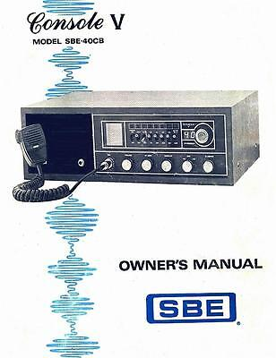 SBE Console V  5  OWNERS MANUAL +  Schematic  CB Radio SBE-40CB on CD PDF