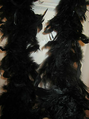 Chandelle Feather Boa 72 Inch 60 Grams Black Bnew In Package
