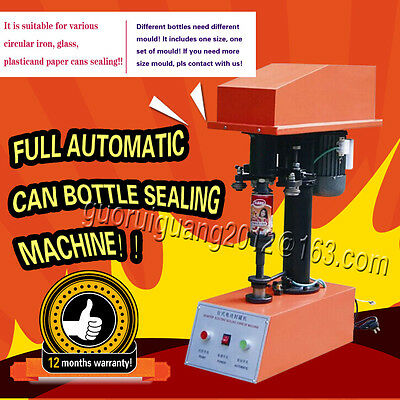 free shipping,full automatic PET can sealing,tin,jar capper can capping machine