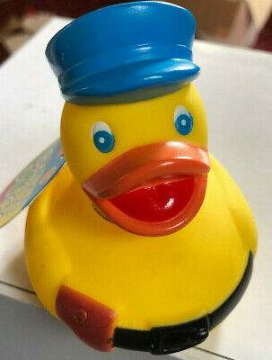 New Fun Novelty Floating Bath Rubber Police Duck Yellow Padg