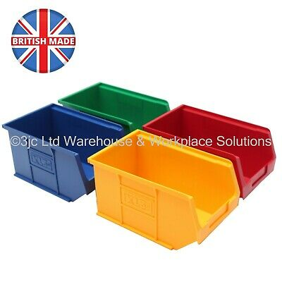 NEW British Made Strong Plastic Parts Storage Bins Boxes - Box Of 10 x Size 3