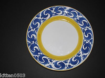 """Herend Village Pottery Splash Luncheon Salad Plate 8 1/4""""  Hungary Excellent"""