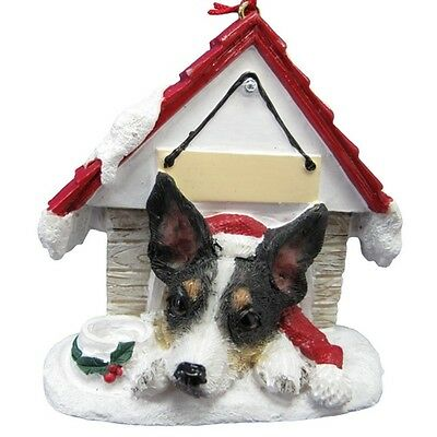 Rat Terrier~ Doghouse  Ornament  ~ #92