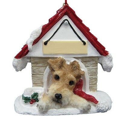 Wire Fox Terrier~ Doghouse  Ornament  ~ #56