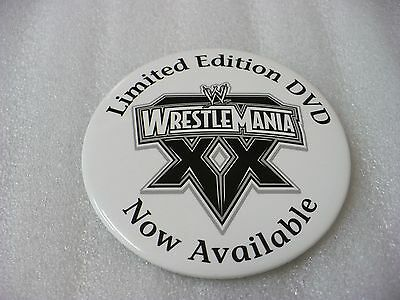 QM- 2004 WRESTLE MANIA LIMITED EDITION DVD NOW AVAILABLE  PIN BACK BADGE #33684