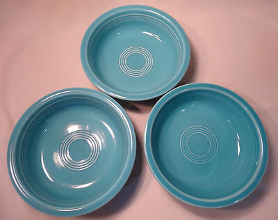 Fiesta Homer Laughlin Turquoise Soup Bowls Contemporary 3