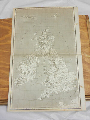 1819 Antique Map//BRITANNIA ROMANA CUM HIBERNIA