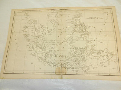 1819 Antique Map//EAST INDIA ISLANDS (EAST INDIES)