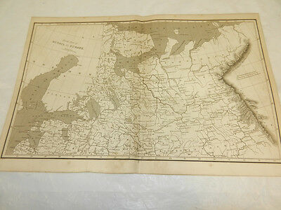 1819 Antique Map//NORTH PART OF RUSSIA IN EUROPE