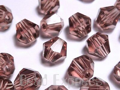 20Pc 6mm Antique Rose Purple 5301 Grade Austrian Crystal Bicone Beads (AU612B)