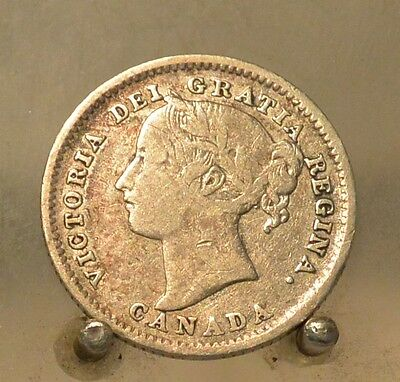 1884 Canada Silver 10 Cents, Silver Ten Cent Coin, Key Date