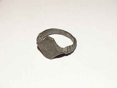 Perfect Antique Early Medieval finger ring-seal . c14-15 AD.