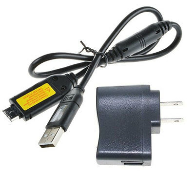 USB AC Wall Battery Power Charger Adapter for Samsung SH100 SL105 SL102 Camera