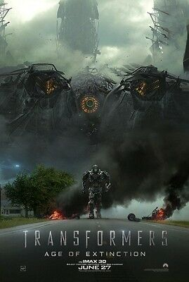 Transformers Age of Extinction 4 - original DS movie poster - 27x40 D/S INTL A