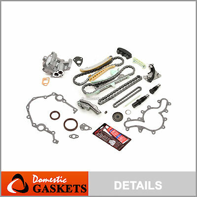 97-08 Ford Mercury Mazda 4.0L Timing Chain Oil Pump Kit+Cover Gasket -NO Gear