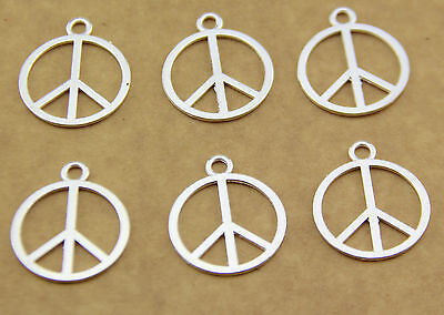 Free shipping hot 10pcs peace sign alloy jewelry pendant