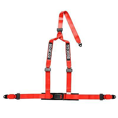 Sparco 3 Point Driver Clubman Motorsport/Racing Crutch Harness - Red