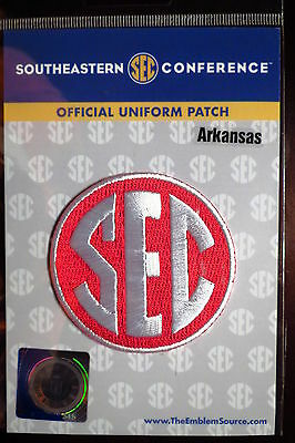 Official Licensed NCAA College Football Arkansas SEC Conference Patch