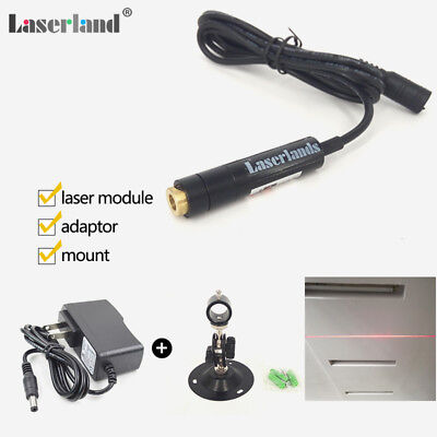 Focusable 650nm 5mw Red Line Laser Module Glass Lens Locater + adapter