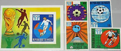 NIGER 1978 619-22 Block 20 U 438-42 Soccer World Cup Fußball WM Football MNH