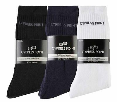 BNWT 3 Pairs of Classic Sports Golf Socks Men's Size  6/11 Black Padded Footbed