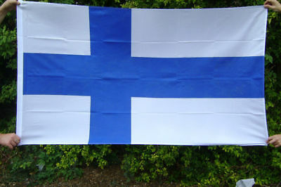 NEW 5 x 3 FOOT FINLAND FINNISH SUOMI FLAG