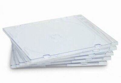 50 SLIM Clear CD Jewel Cases