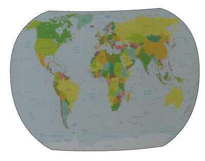 Giant World Map Wall Decal Sticker Repositional Classroom Decoration