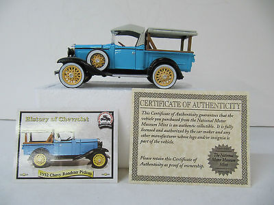 1932 Chevy Roadster Pickup  Die Cast  National Motor Museum Mint  1/36 Scale