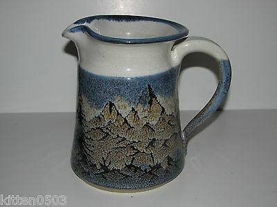 Aitken Pottery Handmade and Signed Blue Mountain Pitcher Lead Free Stoneware