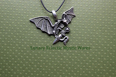 Celtic DRAGON With SWORD PEWTER Pendant Wicca Pagan Mythical SALE SALE SALE
