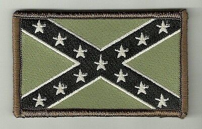 """2"""" x 3 1/8"""" Multicam Confederate Flag Stars and Bars Morale Velcro Patch"""