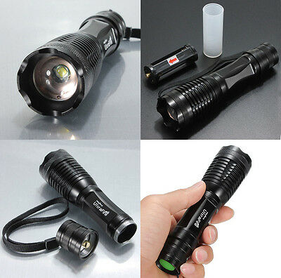 1800Lm Tactical 18650 CREE XML T6 LED Flashlight Torch Lamp 5 Mode E5