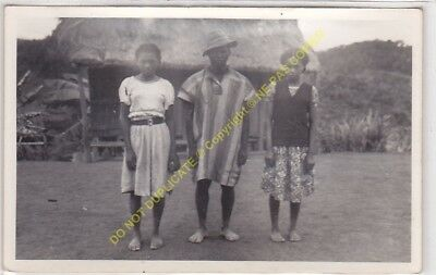 RPPC carte photo MADAGASCAR famille malgache n17