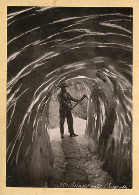 Suisse, Grindelwald, Eis Grotte  Vintage photomechanical print.  Photomécani
