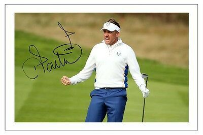 Ian Poulter Europe 2014 Ryder Cup Signed Photo Print Golf Autograph