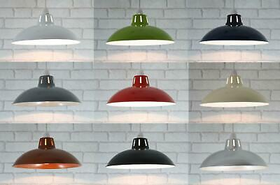 "12"" Retro Metal Cafe Diner Ceiling Lampshade Pendant Light Shade"