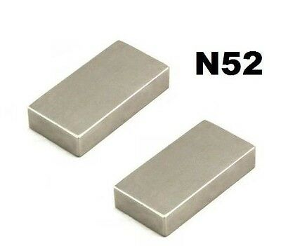 Grade N52 Neodymium Blocks Magnets 50mm x 25mm x 10mm Permanent Powerful NEO