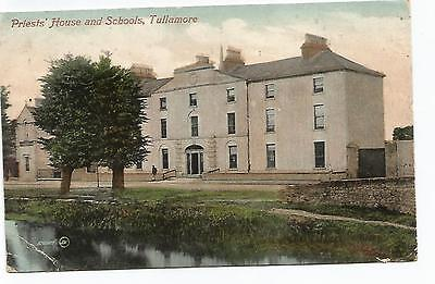 irish postcard ireland offaly tullamore the priest s house and school