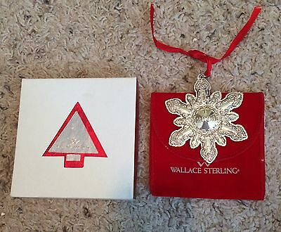 Wallace GRANDE BAROQUE 2000 Sterling Snowflake Ornament w/ Box