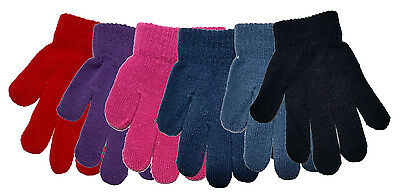 3 Pairs of Childrens Magic Gloves Boys Girls Various Colours Winter Warm Unisex