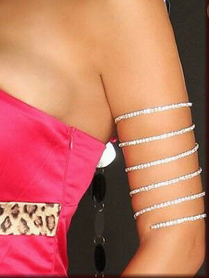 NEW! Greek Roman Rhinestones Crystals Coil Arm Band Armlet Costume Bracelet 730