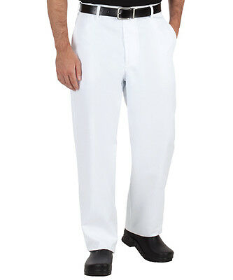 New White Traditional Chef Pants size 28,30,32,34,36,38,40,42,44,46 by RedKap