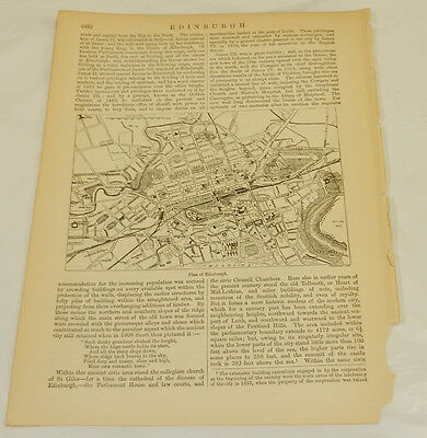 1878 Antique Map/EDINBURGH, SCOTLAND