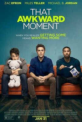 That Awkward Moment - original DS movie poster - 27x40 D/S - 2014 Efron