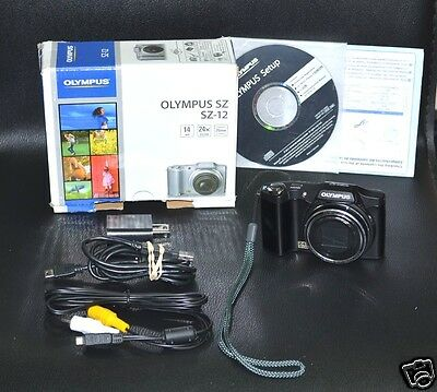 Olympus S series SZ-12 14.0 MP Digital Camera - Black *GREAT CONDITION*