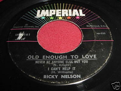 RICKY NELSON - OLD ENOUGH TO LOVE - 45 EP IMPERIAL
