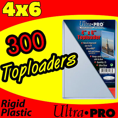 300 ULTRA PRO RIGID TOPLOAD TOPLOADERS 4x6 POSTCARD HOLDER SLEEVES 81183-300