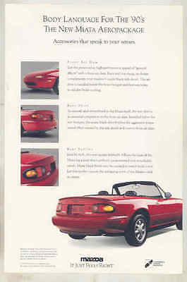 1990 Mazda Miata Accessories Brochure mx9346