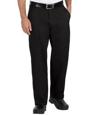 New Black Traditional Chef Pants size 30,32,34,36,38,40,42,44,46